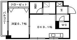 ソレイユコート東町[701号室]の間取り