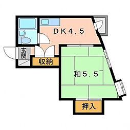 ハイムホープフル[4階]の間取り