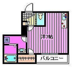 ブリリアント浦和[3階]の間取り