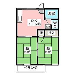 メゾン庭瀬 D[2階]の間取り