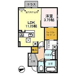 仮)D-room諸江下丁[102号室]の間取り