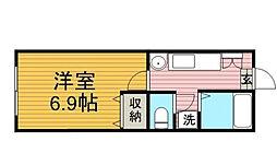 千葉県松戸市新松戸2丁目の賃貸アパートの間取り