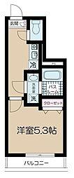 JR総武線 高円寺駅 徒歩9分の賃貸マンション 1階1Kの間取り
