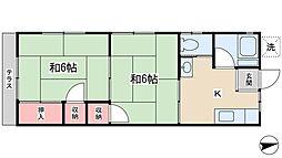 ベネルクスアパートメント[2階]の間取り