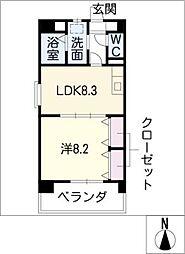 メゾンドグロリア[3階]の間取り