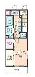 ディ クワトロ 高座渋谷 B[ツー号室]の間取り