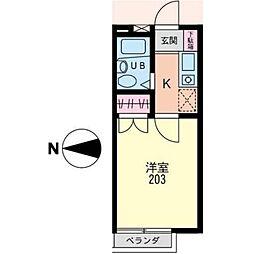 神奈川県横浜市泉区領家4丁目の賃貸アパートの間取り