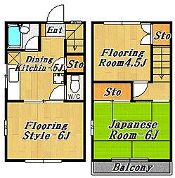 杉山メゾン(メゾネット)[1階]の間取り
