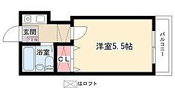 愛知県名古屋市名東区陸前町の賃貸アパートの間取り