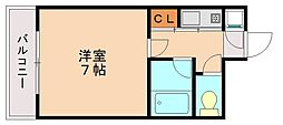 ピュアドーム高宮ロイヤルズ[7階]の間取り