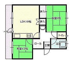 協栄第1ビル[12号室]の間取り