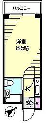 ライオンズマンション大前西横浜[2階]の間取り