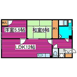 北海道札幌市東区北四十三条東1丁目の賃貸アパートの間取り