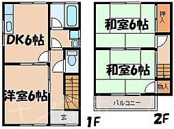 [テラスハウス] 広島県広島市安芸区船越南3丁目 の賃貸【/】の間取り