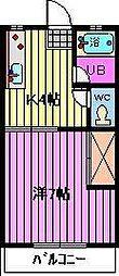 片山コーポラス[2階]の間取り