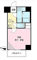 Osaka Metro谷町線 天神橋筋六丁目駅 徒歩8分の賃貸マンション 5階1Kの間取り