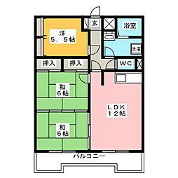 福岡県福岡市南区和田3丁目の賃貸マンションの間取り
