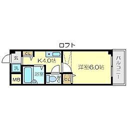 レジデンスヤマキ[3階]の間取り