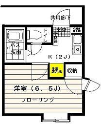 神奈川県川崎市高津区諏訪1丁目の賃貸マンションの間取り