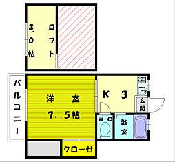 コーポ立花[2階]の間取り