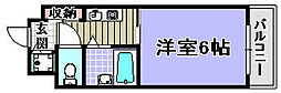 フォンテーヌ21[203号室]の間取り