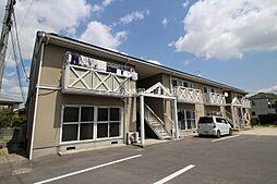 岡山県岡山市中区米田の賃貸アパートの外観