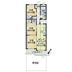 ライオンズマンション相模原南台[1階]の間取り