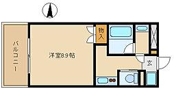 兵庫県尼崎市潮江1丁目の賃貸マンションの間取り