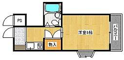 大阪府高槻市藤の里町の賃貸マンションの間取り