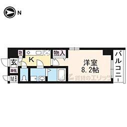 JR東海道・山陽本線 京都駅 徒歩11分の賃貸マンション 3階1Kの間取り