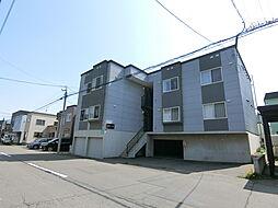 北海道札幌市白石区平和通17丁目の賃貸アパートの外観