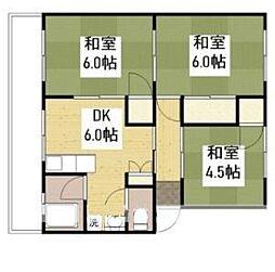 岡マンション A棟[2階]の間取り