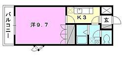 プランドール・カネキB棟[203 号室号室]の間取り
