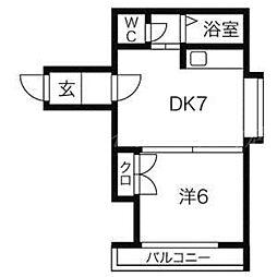 ピオネーロN16[3階]の間取り
