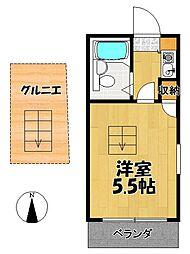 田沢アパート[201号室]の間取り