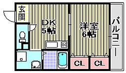 カーサ福田[302号室]の間取り