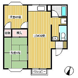 コーポ辻ヶ花[2階]の間取り