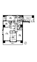 薬院中央パーク・ホームズウエストコート[11階]の間取り