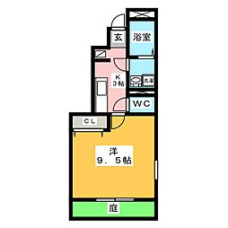 アスピリア マーム[1階]の間取り