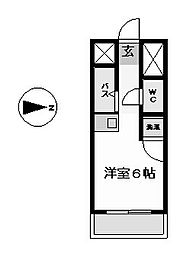 ドール六番町 (ドールロクバンチョウ)[6階]の間取り