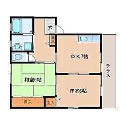 静岡県静岡市清水区宮加三の賃貸アパートの間取り