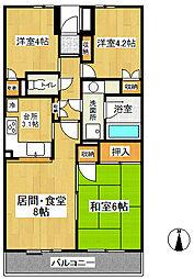 東戸塚パークホームズ弐番館[2階]の間取り