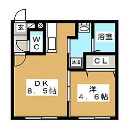 北海道札幌市西区西町北12丁目の賃貸マンションの間取り