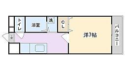 永田第2ビル[206号室]の間取り