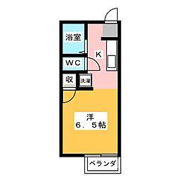 コーポYS[1階]の間取り