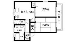 広田ハイツ[2階]の間取り