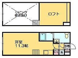 モンテローザII号館[1階]の間取り