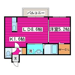 北海道札幌市東区北四十二条東1丁目の賃貸マンションの間取り