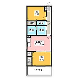 ASUNARO21[2階]の間取り