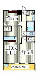 ティープラントIII[2階]の間取り